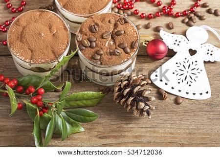 Tiramisu Gles Christmas Decoration Stock Photo (Royalty Free ... on