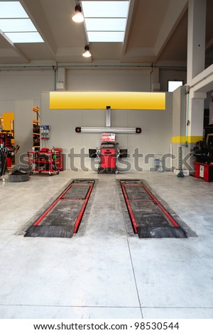 tire and auto repair service - stock photo