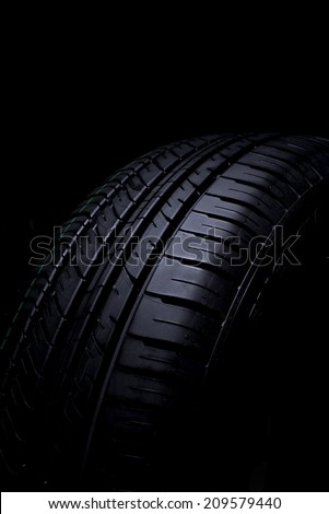 Tire Car on black background