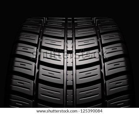 tire in position - stock photo