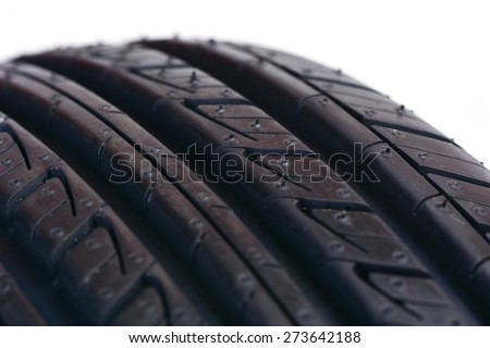 Tire isolated - stock photo