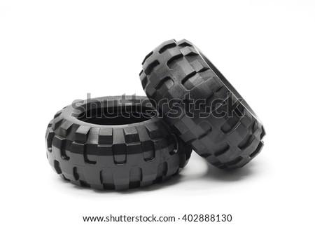 tire on white background - stock photo