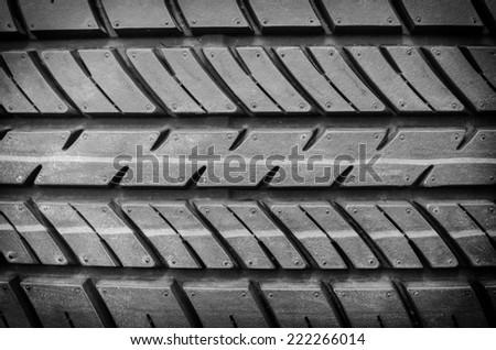 tire textured - stock photo