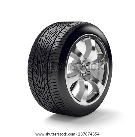 tire with disk 3d render