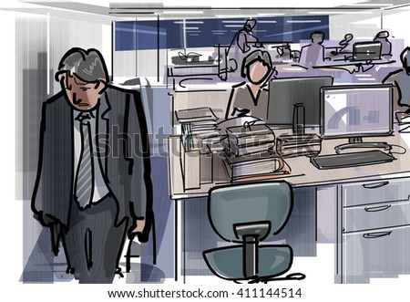 Tired and go home - stock photo