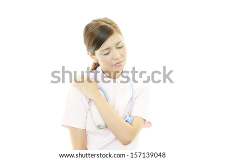 Tired female nurse