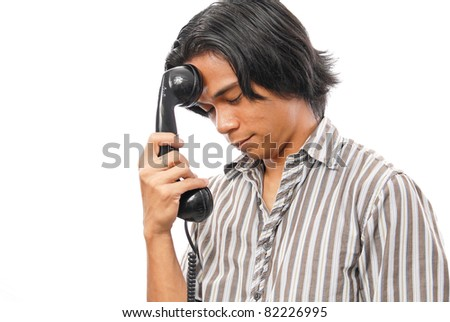 Tired of Being Put on Hold - stock photo