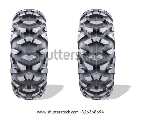 Tires isolated on white background. - stock photo