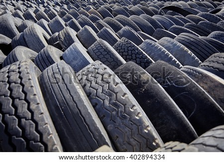 tires used worn for recycling waste management industry disposal