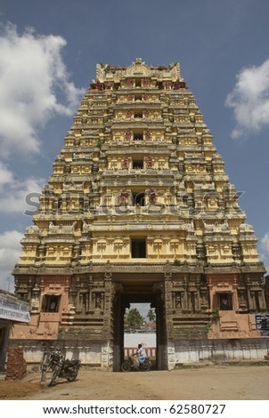 Tirrukalikundram, Tamil Nadu, India, South India, temple, ancient, architecture, gopuram, the old building, church, religion, Hinduism