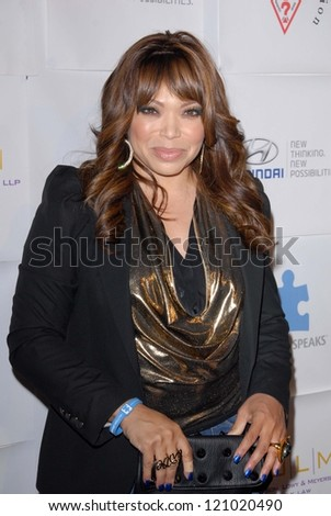 Tisha Campbell-Martin at the Blue Tie Blue Jean Ball, presented by Austism Speaks, Beverly Hilton, Beverly Hills, CA 11-29-12 - stock photo