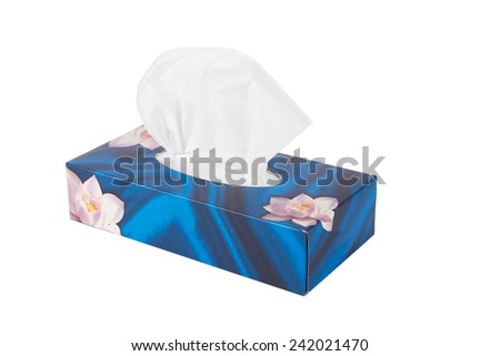 Tissue box isolated on a white background  - stock photo