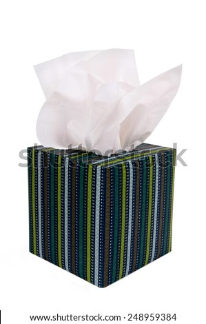 Tissue box, isolated on white.