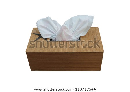 Tissue box isolated on white background. - stock photo