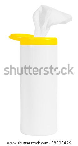 Tissue dispenser. Isolated - stock photo