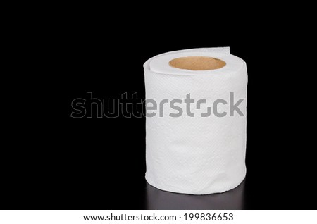 Tissue on black background