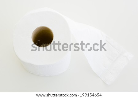 Tissue on white background