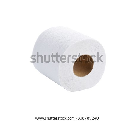 tissue-simple toilet paper on white background