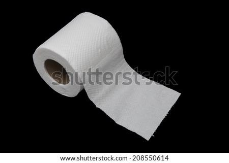 tissue toilet paper - stock photo