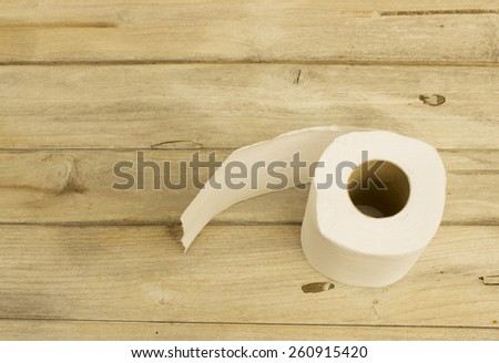 Tissues on the wooden table - stock photo