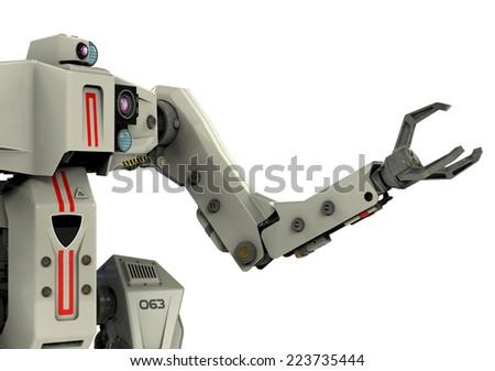 titan robot close up - stock photo