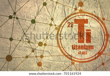 Zinc chemical element sign atomic number stock illustration titanium chemical element sign with atomic number and atomic weight chemical element of periodic urtaz Choice Image