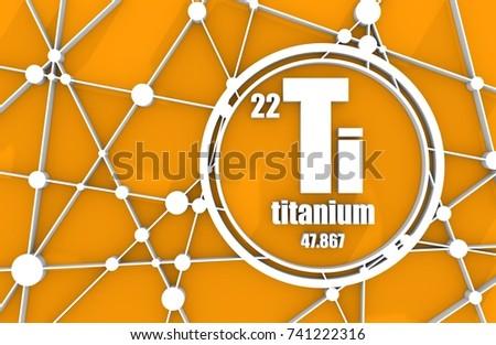 titanium chemical element sign with atomic number and atomic weight chemical element of periodic - Periodic Table Titanium Atomic Mass