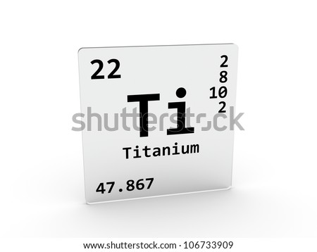 High Quality Titanium Symbol   Ti   Element Of The Periodic Table