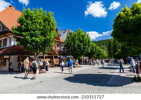 TITISEE, GERMANY - MAY 30: Titisee, a municipality in the Black Forest mountain range on May 30, 2009. Its in the state of Baden-Wurttemberg in southwestern Germany.