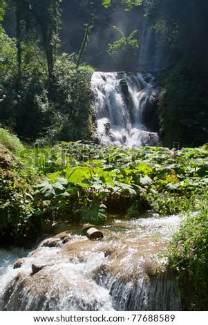 Tivoli waterfall - stock photo