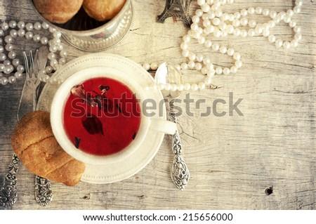 Tlme for tea - stock photo