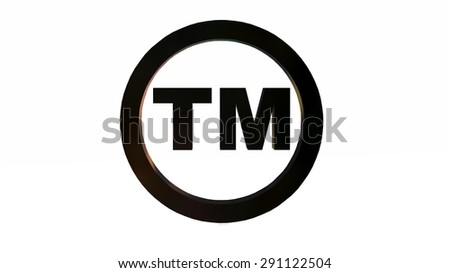 TM - round Trade Mark sign isolated on white background - stock photo