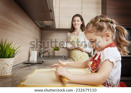 to bake in the kitchen - stock photo