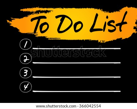 TO DO LIST blank list, business concept - stock photo