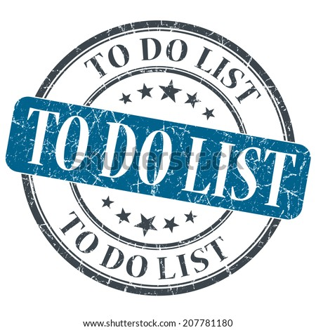 To do list blue grunge textured vintage isolated stamp - stock photo