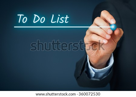 To do list heading - background template for business presentation with to-do list. Background for business slide show for presentations. - stock photo