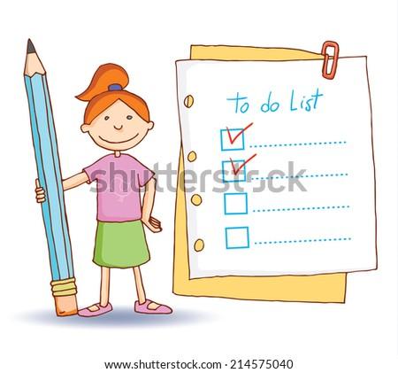 to do list. illustration. - stock photo