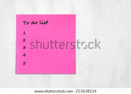 To do list on sticky note paper background - stock photo