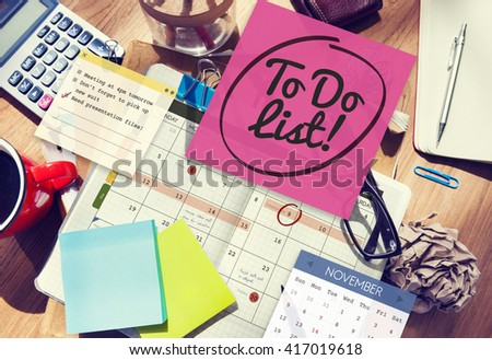 To Do List Schedule Calender Planner Organization Concept - stock photo