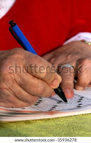 to do the crossword - stock photo