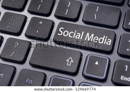 to illustrate social media concept online or internet, with message on keyboard enter key.