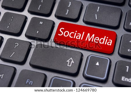 to illustrate social media concept online or internet, with message on keyboard enter key. - stock photo