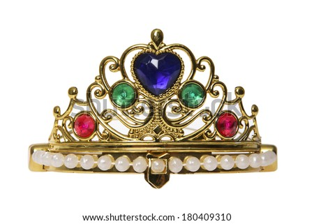 to jewelry crown on white