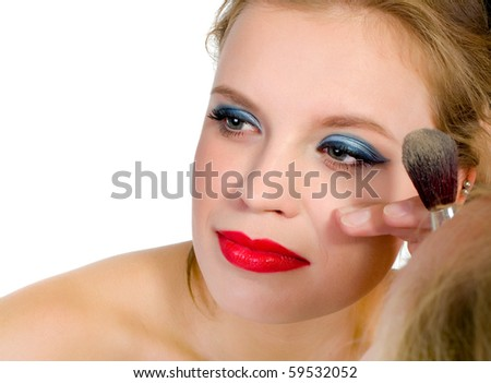 To the young women do a make-up