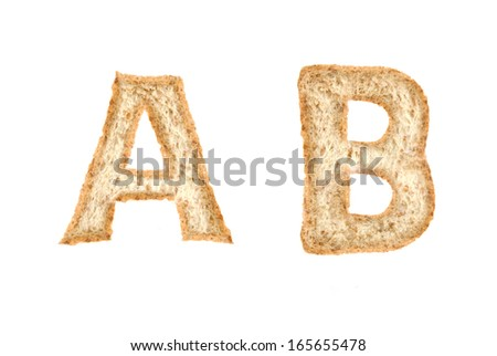 Toast alphabet on A-B
