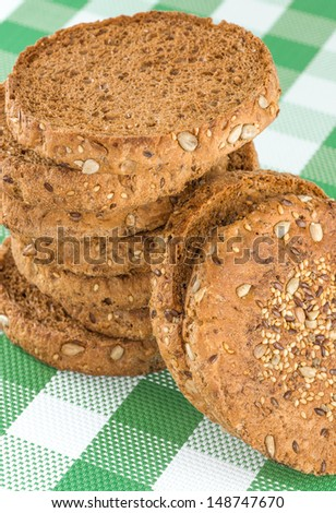 Toast bread on the table - stock photo