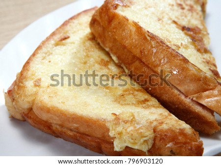 toast bread with egg