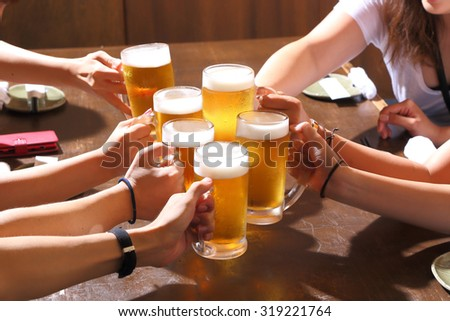 toast for beer - stock photo