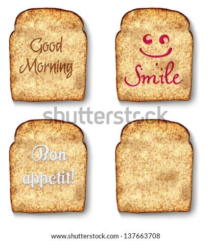 Toast illustration - stock photo
