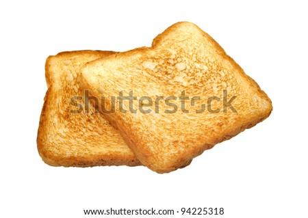 Toast isolated a on white background - stock photo